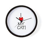 I Love My Cat! Wall Clock