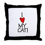 I Love My Cat! Throw Pillow