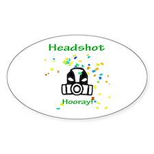 Halo Grunt Headshot Oval Decal