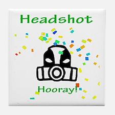 Halo Grunt Headshot Tile Coaster