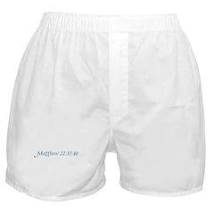 Matthew 22:37-40 Boxer Shorts