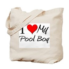 I Heart My Pool Boy Tote Bag