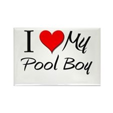 I Heart My Pool Boy Rectangle Magnet