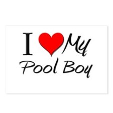 I Heart My Pool Boy Postcards (Package of 8)