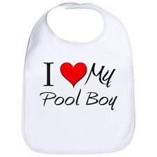 I Heart My Pool Boy Bib