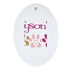 Tyson's Mom Oval Ornament