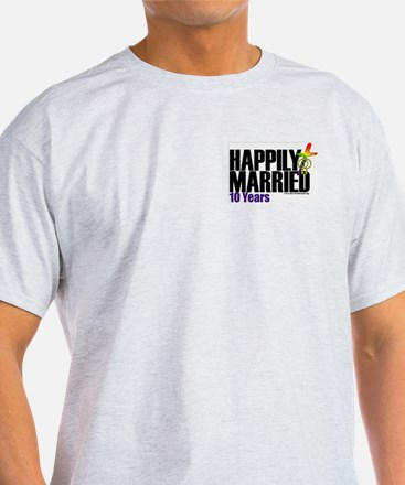 Happily Married (Women) Ash Grey T-Shirt