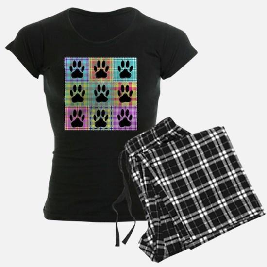 Dog Paw Pattern Quilt Pajamas