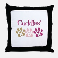 Cuddles's Mom Throw Pillow