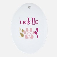 Cuddles's Mom Oval Ornament