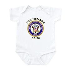 USS Nevada BB 36 Infant Bodysuit