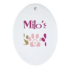 Milo's Mom Oval Ornament