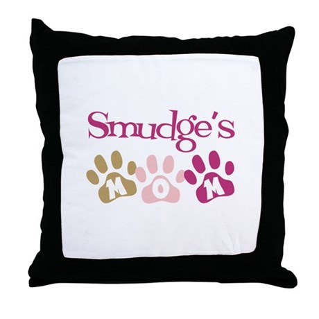Smudge's Mom Throw Pillow