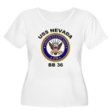 USS Nevada Women's Plus Size Scoop Neck Tee