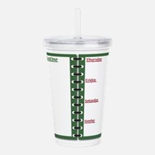 Fitness Routine Notepa Acrylic Double-wall Tumbler