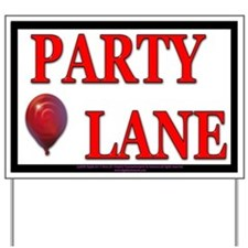 Balloon PARTY Yard Sign
