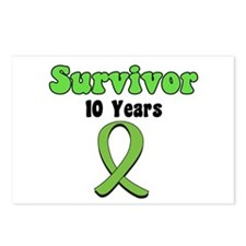 10 Years Lymphoma Survivor Postcards (Package of 8