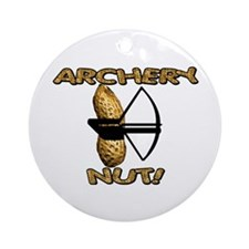 Archery Nut! Ornament (Round)