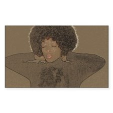 Afro Rectangle Decal