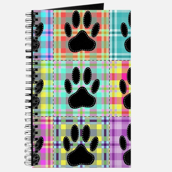 Dog Paw Pattern Quilt Journal