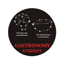 """Funny Astronomy student 3.5"""" Button (100 pack)"""