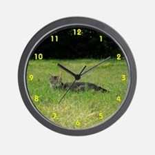 Chasing the Wind Feral Cat Wall Clock