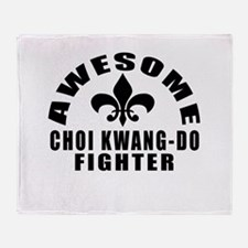 Awesome Choi Kwang Do Fighter Throw Blanket