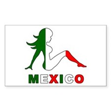 Mexican Mud Flap Girl Rectangle Decal