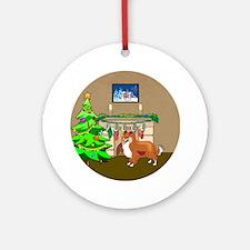 A Sheltie Christmas Ornament (Round)