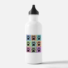 Dog Paw Pattern Quilt Water Bottle