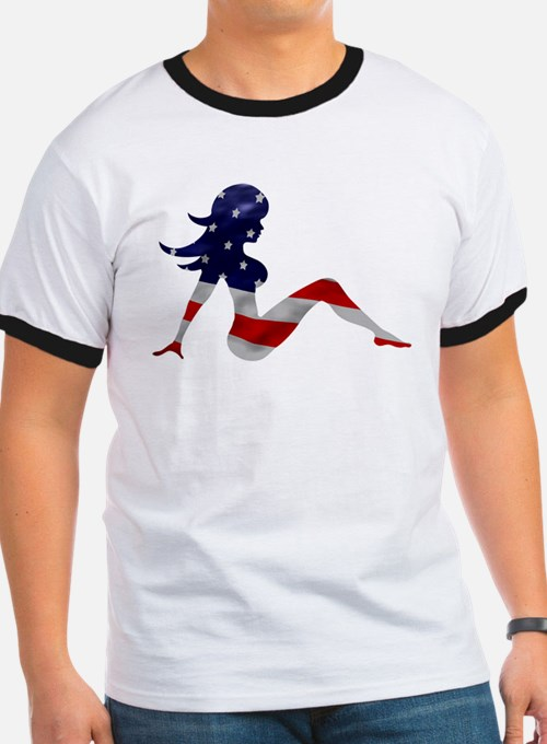 Patriotic Mud Flap Girl T