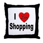 I Love Shopping for Shoppers Throw Pillow