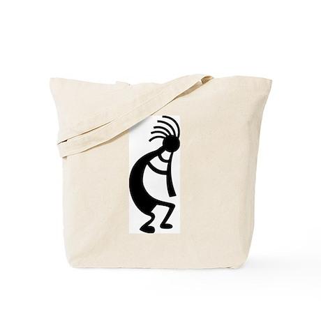 Tote Bag - Black Kokopelli