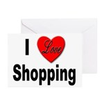 I Love Shopping for Shoppers Greeting Cards (Packa