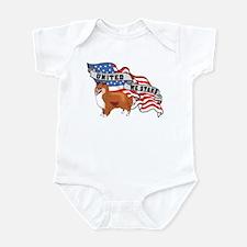 Sheltie United We Stand American Flag Infant Bodys