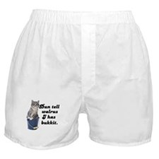 Don't Tell Walrus I Have Bucket! Boxer Shorts