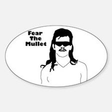Fear the Mullet Oval Decal