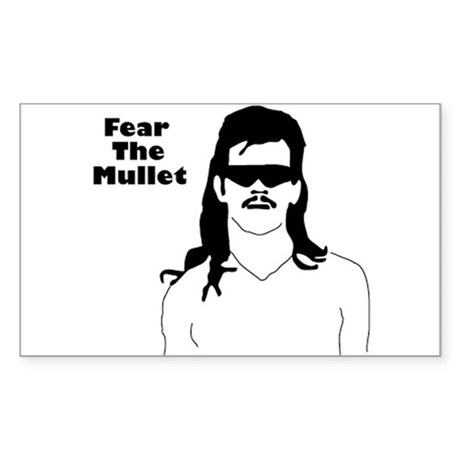 Fear the Mullet Rectangle Sticker