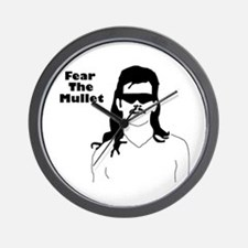 Fear the Mullet Wall Clock