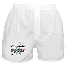 Lithuania Rocks Boxer Shorts
