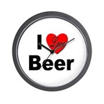 I Love Beer for Beer Drinkers Wall Clock
