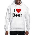 I Love Beer (Front) Hooded Sweatshirt