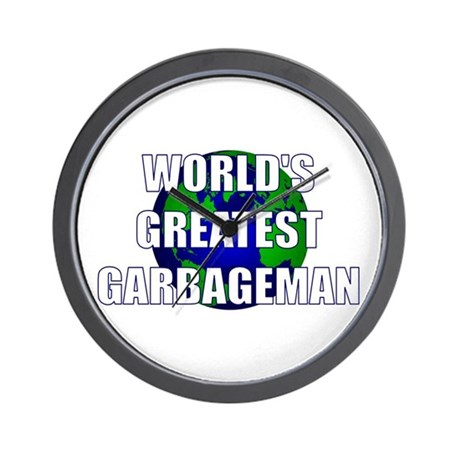 World's Greatest Garbageman Wall Clock