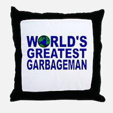World's Greatest Garbageman Throw Pillow