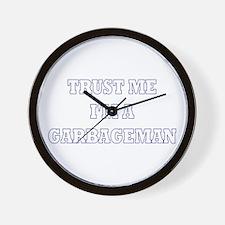 Trust Me I'm a Garbageman Wall Clock