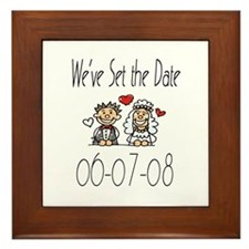 Wedding Date 06-07-08 Framed Tile