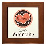 Pink Brown Mommy's Little Valentine Framed Tile