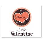 Pink Brown Mommy's Little Valentine Small Poster