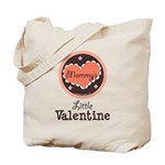Pink Brown Mommy's Little Valentine Tote Bag