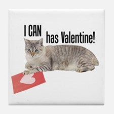 I CAN Has Valentine! Lolcat Tile Coaster